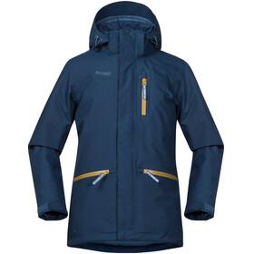 Bergans Youth Alme Insulated Jacket Dark Steel Blue/Steel Blue/Yellow Green